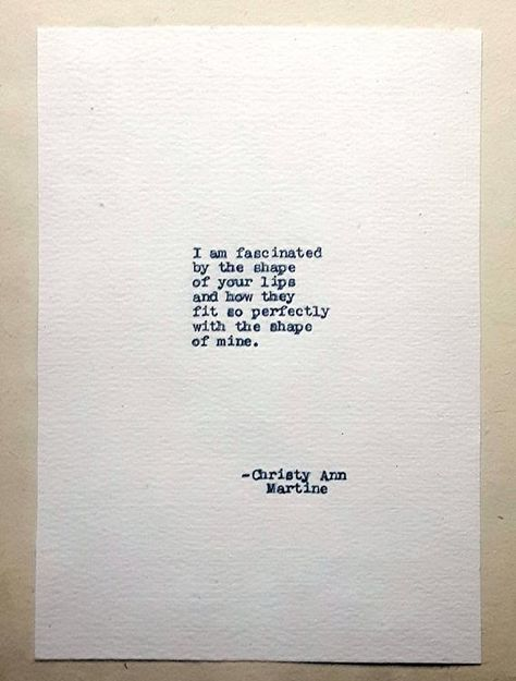 Hi, I'm Christy, a writer, and poet. I've written all of the poems you see in my shop. ~~~~~~~~ Fascinated Love Quote Typed With Antique Typewriter Please Note: I no longer offer the paper shown in the first photo, I offer three types of paper which I describe below. Key features: • Hand typed