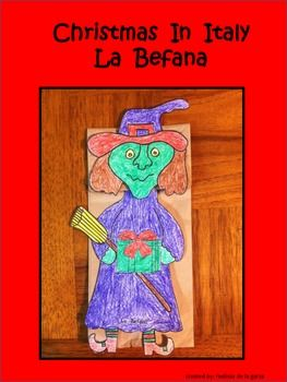 Merry Christmas With The Befana Italian Tradition In Coloring Page
