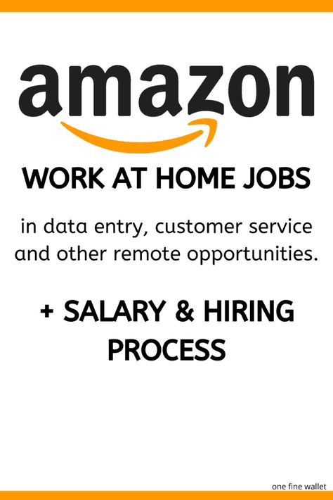 7 Proven Ways to Find Amazon Work from Home Jobs - One Fine Wallet