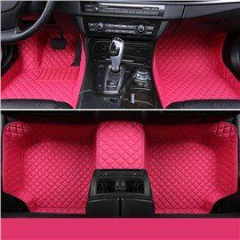 With Heart Shaped Pattern Double Deck Waterproof Custom Fit Car Floor Mat Beddinginn Com Fit Car Car Floor Mats Pink Car