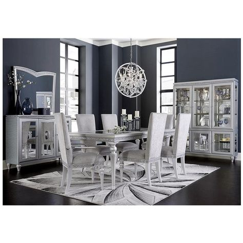 Melrose Extendable Dining Table Living Room Sets Luxury Dining