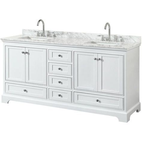 Wyndham Collection Deborah 72 Inch Double Bathroom Vanity No
