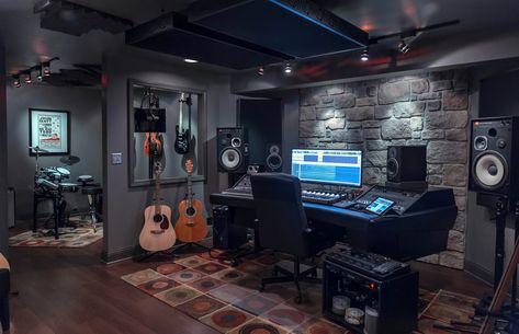 61 trendy home studio music design loft Music Studio Decor, Home Recording Studio Setup, Home Studio Setup, Studio Desk, Basement Studio, Home Recording Studios, Loft Studio, Home Music Rooms, House Music