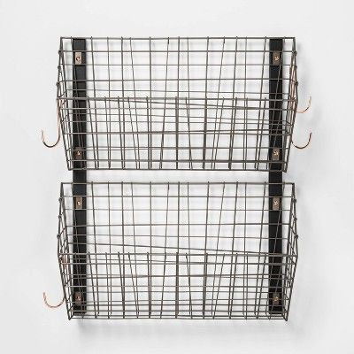 Wire Wall Mounted Shoe Rack Pewter Threshold Target In 2020 Wall Mounted Shoe Rack Wall Shoe Rack Wall Mounted Shoe Storage
