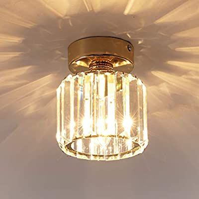 Jaycomey Crystal Ceiling Light Mini Round Flush Mount Ceiling Light Entryway Gold Pendant Light Ceiling Lights Chrome Pendant Lighting Pendant Light Fixtures