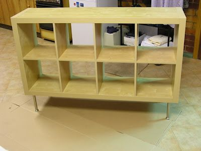 Ikea Expedit Hack How To Screw On Legs Much Shorter Legs Would Be