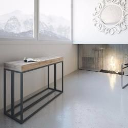 Konsole Ausziehbar Aus Melaminholz Eiche Made In Italy Baucina Aus Ausziehbar Baucina Eich Dining Room Small Living Room Scandinavian Rustic Home Interiors