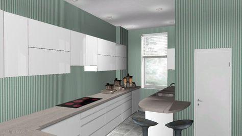 küchenwandgestaltung ideen tafelfarbe grau weiße schränke - esszimmer komplett g amp uuml nstig