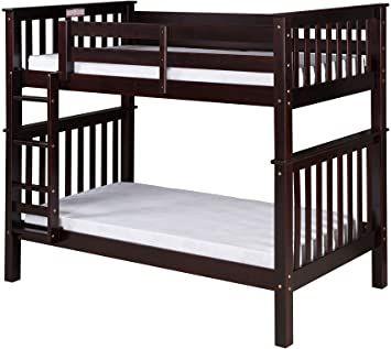 Camaflexi Santa Fe Bunk Twin Over Twin Cappuccino Modern Bunk Beds Bunk Beds Diy Bunk Bed