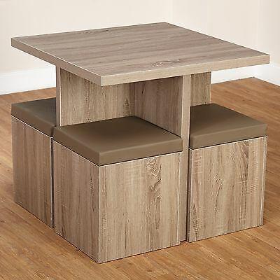 Details About Compact Dining Set Studio Apartment Storage