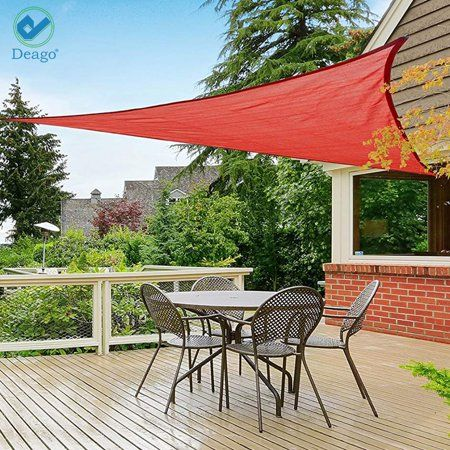 Deago 16 5 X 16 5 X 16 5 Waterproof Sun Shade Sail Uv Block Canopy Cover For Outdoor Patio Garden Beach Sand Triangle Walmart Com Shade Sail Sun Sail Shade Patio