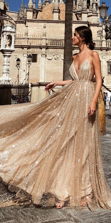 Top 27 Wedding Dresses For Celebration ❤ top wedding dresses a line with spaghetti straps blush sexy rocío osorno ❤ See more: http://www.weddingforward.com/wedding-ideas-part-2/ #weddingforward #wedding #bride #bridalgown