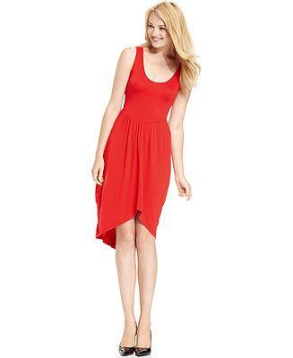 kensie scoop-neck cinch dress
