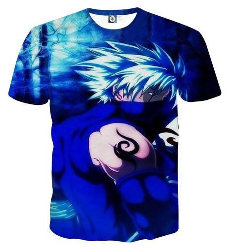 Hatake Kakashi Naruto Japanese Anime Powerful Art T Shirt Naruto