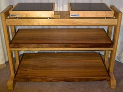 Review Hush Equipment Rack Three Shelf Oak Version Isolate Your Hi Fi And Audiophiletv Standsfurniture