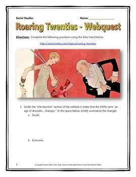 39 Best Roaring 20s images   Roaring 20s, Social studies ...