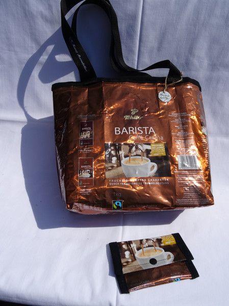 Recycle Kaffee Tasche Barista Cafè Crema Tchibo von Monis