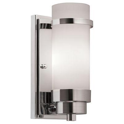 Portfolio Wall Sconce Ba0003b1 Pl 1 Light Chrome Arm Bathroom Wall Sconces Wall Sconce Hallway Sconces