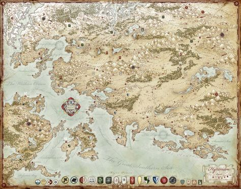 Forgotten Realms High Rez Map RPG Maps Pinterest Forgotten - new random world map generator free