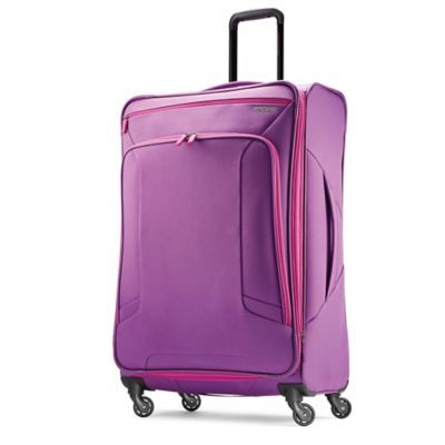 0a345762c American Tourister Sonic Rolling Tote in the color Purple Print. | Purple  Power | Color, Purple, Travel deals