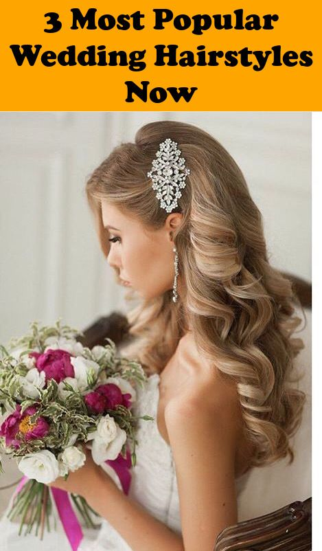 Choose On The Right Bridesmaids Hairstyles And Have The Best Looking Wedding Entourage Wedding Event Ha Bridal Hair Half Up Glamorous Wedding Hair Hair Styles