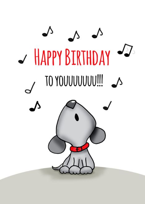 Happy Birthday to you - Howling Birthday Card with dog card. Personalize any greeting card for no additional cost! Cards are shipped the Next Business Day. Happy Birthday Greetings Friends, Funny Happy Birthday Images, Happy Birthday Dog, Birthday Wishes And Images, Happy Birthday Beautiful, Happy Birthday Messages, Happy Birthday Quotes, Funny Birthday Cards, Happy Birthday Greeting Cards