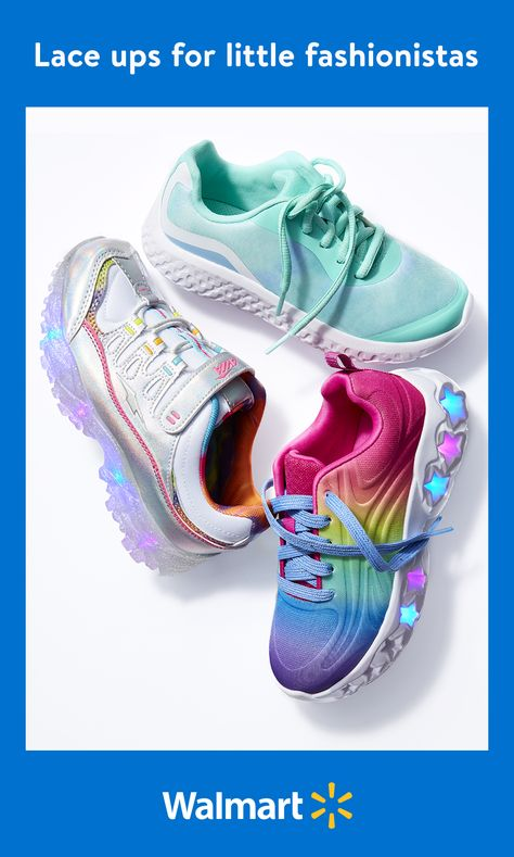 Save with everyday low prices on stylish shoes from Athletic Works  other popular brands at Walmart. Whether your little girl wants to show off her appreciation for Frozen 2 or put her unique fashion sense on display, we've got cute kicks that will be a perfect fit.