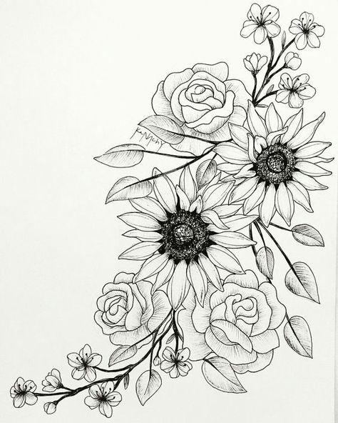 [[ for back around to side ]]#thightattoos #flowertattoos
