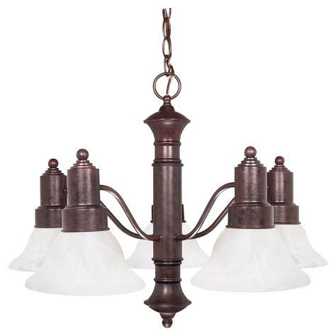 Nuvo 60 Gotham 5 Light Chandelier Old Bronze Chandelier Lighting