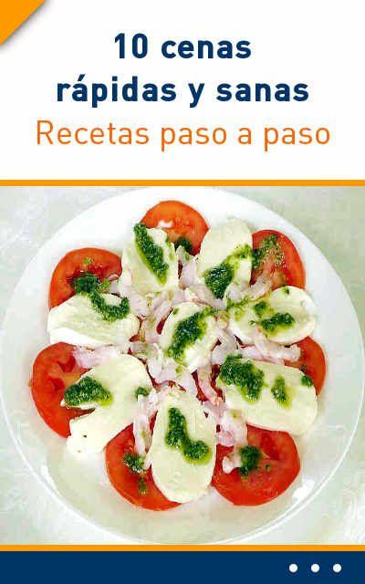 recetas cenas saludables y ricas