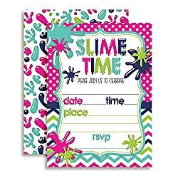 Slime Party Invitations Party Invite Template Birthday Party Invitations Free Slime Birthday
