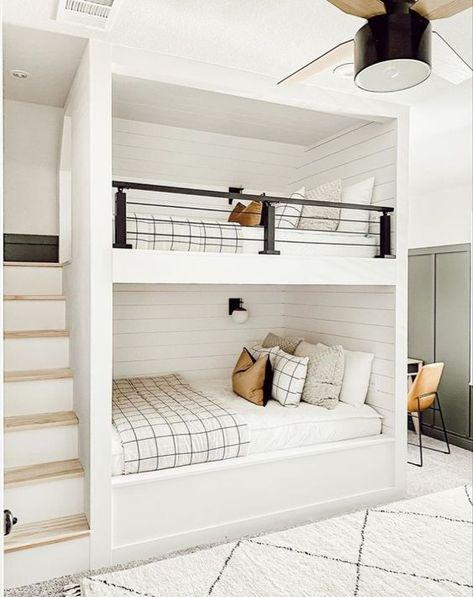 September Pinterest 2020: Top 15 Inspiration & Ideas - Chloe Dominik Home, Bedroom Inspirations, Bed Design, Bed, House, Bedroom Decor, Bedroom Renovation, Bunk Room, Room