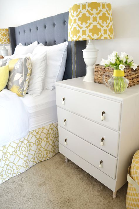 If you're drawn to more subdued, neutral bedding, you can liven things up with a more daring bed skirt, like this one designer Sarah M. Dorsey created. Just add 3 yards of fabric to an existing dust ruffle; if you attach it using no-sew tape, you don't even need a needle and thread.