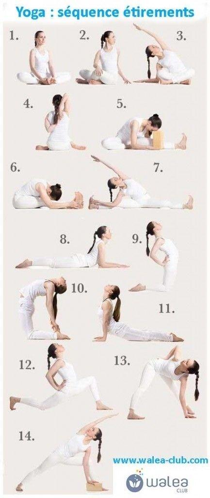 Du yoga et des étirements
