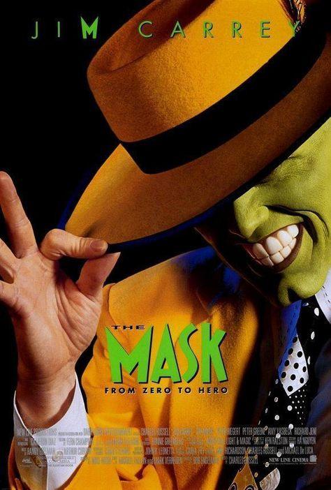 The Mask Movie Poster 27 X 40 Jim Carrey Cameron Diaz A