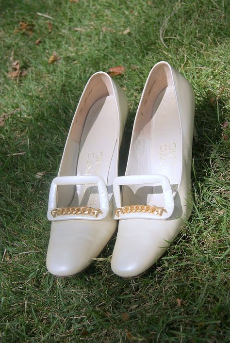 Vintage Mod Wedding Heels by Dominic Romano 55 in by