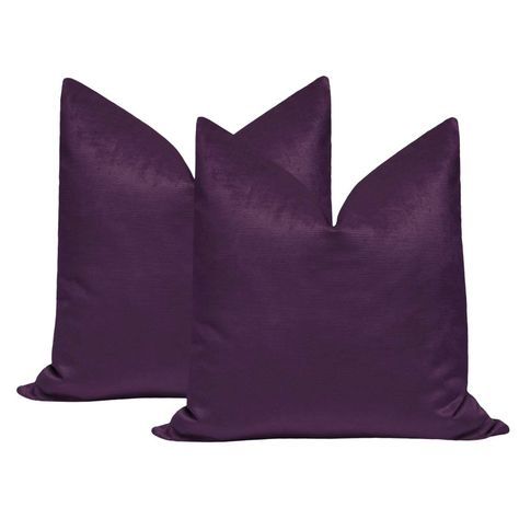 Amethyst Purple Velvet Pillow | Velvet
