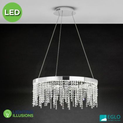 Light Fixture Chandelier Lighting EGLO Glass Lustre