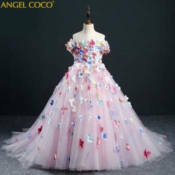Kids Girl Flower Wedding Bridesmaid Dress Party Pageant Beauty Dress 3-15 Years