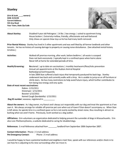 apartment renting create a pet resume etc pinterest dog dog walker resume - Dog Walker Resume