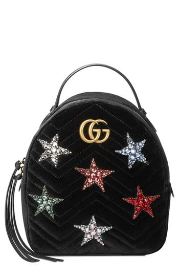 667f604e8bbe Great for Gucci Marmont 2.0 Crystal Stars Velvet Backpack Women's Fashion  Handbags. [$3200] yourfavoriteclothing from top store