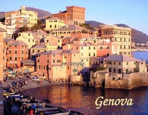 $3.25 - Italy - Genova 2 - Travel Souvenir Flexible Fridge Magnet #ebay #Collectibles
