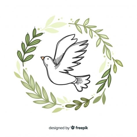 World peace day background with dove in ... | Free Vector #Freepik #freevector #background #hand #education #world