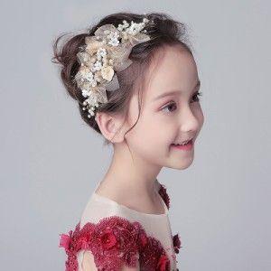 子どもフラワーティアラ カチューシャ ヘアバンド 子供用 フォーマル 髪飾り ヘアアクセサリー キッズ 入園式 卒園式 ホワイト花柄 髪飾り ヘアアクセサリー 卒園式
