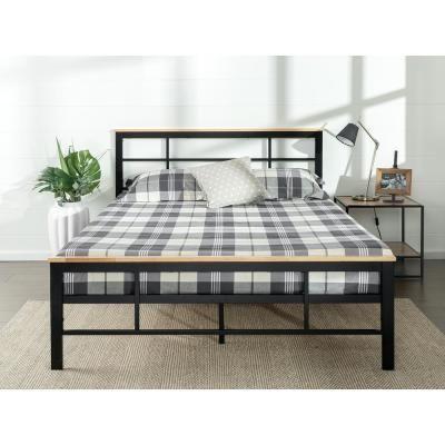 Zinus Marcia Metal And Wood Platform Bed Queen Hd Hbpbc 14q