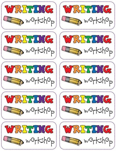 Writing Workshop folder labels FREEBIE