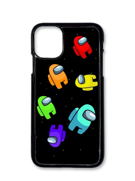 Slim trendy handmade phone case inspired by the game Among Us Art Phone Cases, Phone Covers, Iphone Cases, Iphone 11, Preppy Stickers, Funny Stickers, Diy Phone Case Design, Graffiti, Action Game