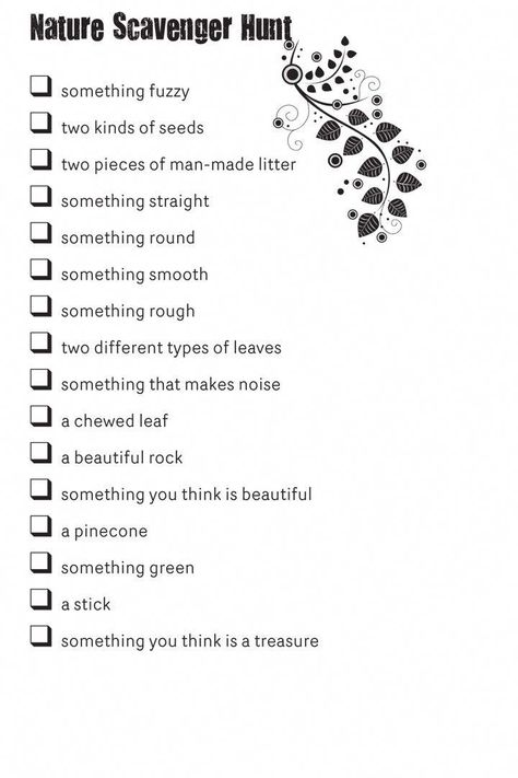 Looks fun for Girls Camp! Nature-scavenger-hunt #