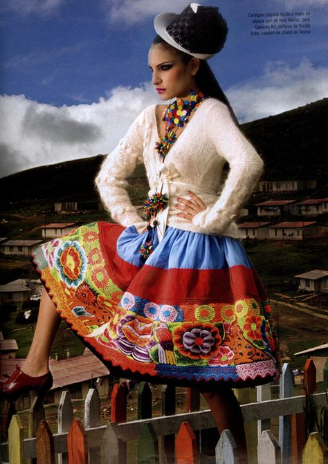 Peruvian fashion designer Naty Munoz specializes in knit wear, produced mainly from Alpaca wool and pima cotton. Her style reflects Andes fashion with a modern twist her designs also preserves.