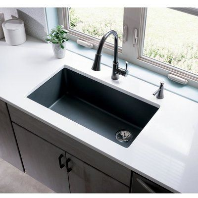 Elkay Elkay Quartz Classic 33 X 19 Undermount Kitchen Sink Have A Smooth Sur Kitchen Remodel Countertops Undermount Kitchen Sinks Kitchen Remodeling Projects Kitchen sinks 33 x 19